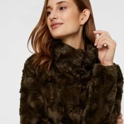 vmcurl, high neck, faux fur, fuskpäls, vero moda