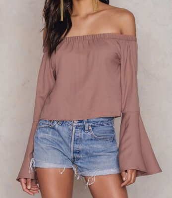 Blus, off-shoulder, festblus, vardagsblus,